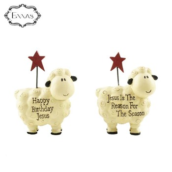Factory direct custom wholesale resin action sheep meaning decorative figurine