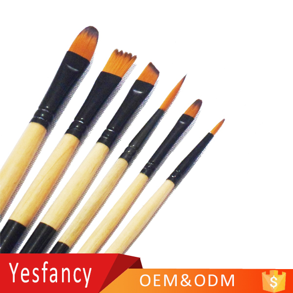 sale price nylon hair round head watercolor painting brushes