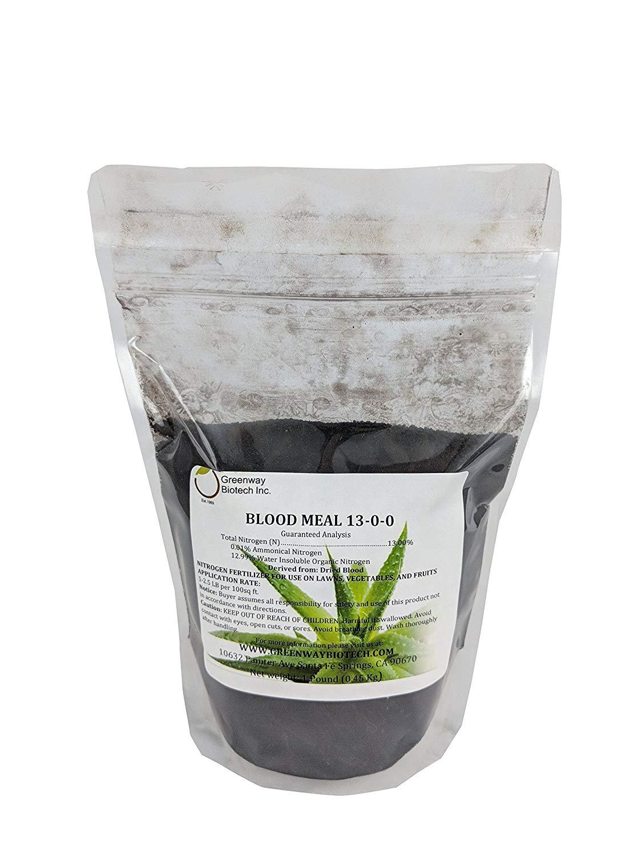 "Blood Meal 13-0-0 Nitrogen Fertilizer""Greenway Biotech Brand"" 1 Pound"