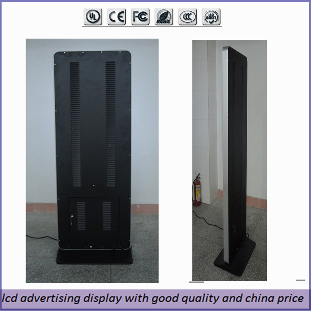 46 inch touch screen kiosk totem lcd display free stand for Totem stand