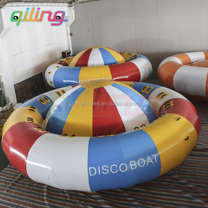 2019 Commercial Grade Very Popular Rockit Inflatable Disco Boat Water Saturn Toys For Sale
