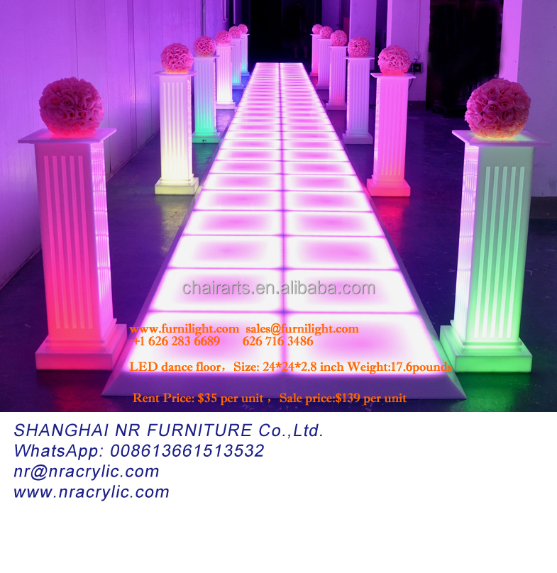 led starlight dance floor Event RGB LED Commercial Lounge Furniture led 3d dance floor