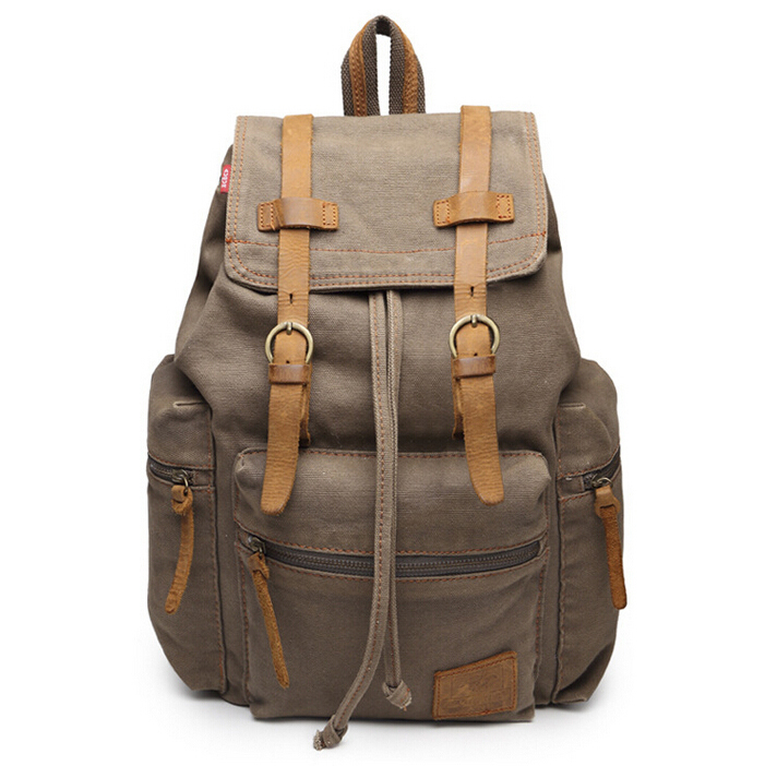 2015 Fashion Men Canvas Backpacks Laptop Notebook Backpack School Bags For Teenagers Hiking Travel Backpack Rucksack Bagpack
