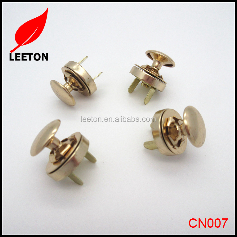Factory supply 14mm rose gold magnetic button with rivet