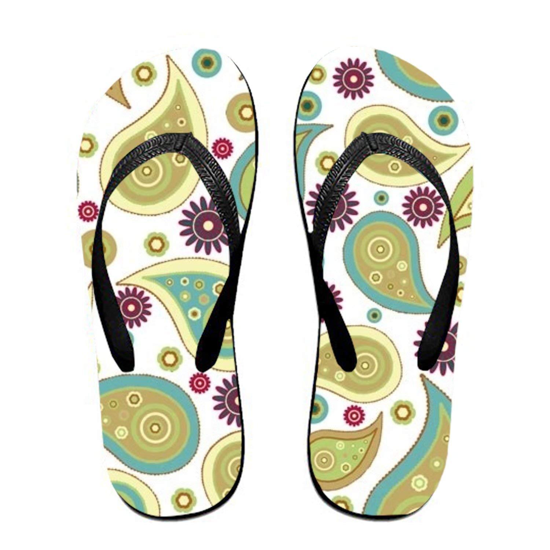 Ltgyth Paisley Pattern Unisex Flip Flops Sandal for Women/Men Cool Beach Slipper