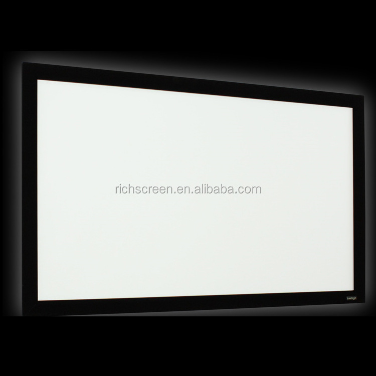 "100"" 120"" 16:9 4K Ultra HD Ready HDTV (6 Piece Fixed Frame) Projector Screen Projection White Grey Material"