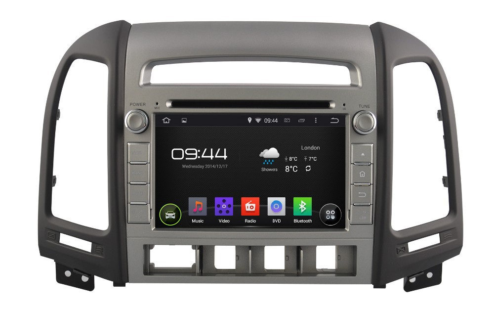 WITSON ANDROID 4.4 FOR HYUNDAI NEW SANTA FE CAR RADIO NAVIGATION SYSTEM WITH 1.6GHZ FREQUENCY DVR SUPPORT WIFI