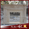 French Style Marble Indoor Fireplace Mantle For Sale