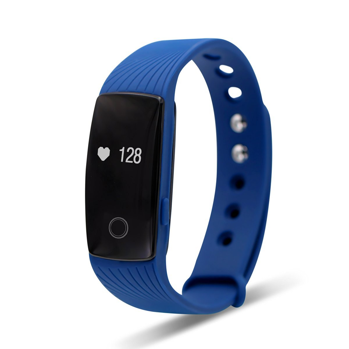 Tecomax Sport Bluetooth Smart Bracelet Wrist Band with Heart Rate Monitoring Anti- Lost Remote Camera Pedometer for Android & IOS iPhone Smart Phone - Navy Blue
