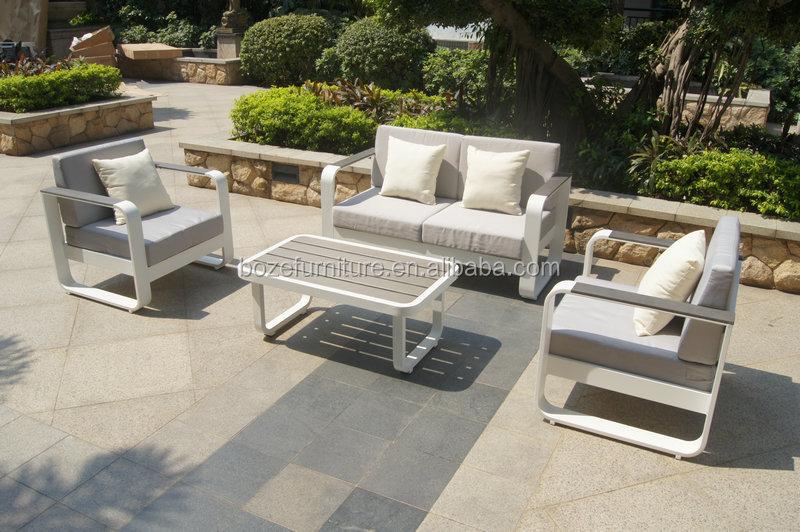 KD Structure Aluminum Sofa Set In Powder Coating / High Quality Aluminum  Outdoor Sofa Part 76