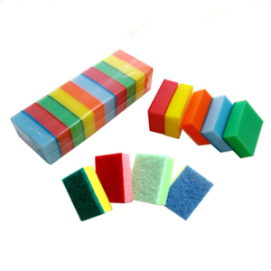 Green nylon sponge scouring pad / kitchen cleaning sponge pad
