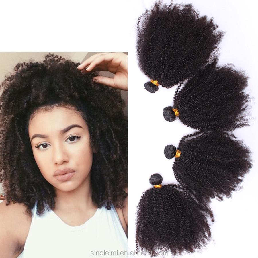 Mongolian Kinky Curly Hair Weftafro Kinky Curly Virgin Hair Bundles