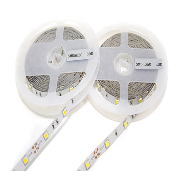 Good heat resistant led strip light with IP68 50m 10mm wide 5050 smd led stripes white