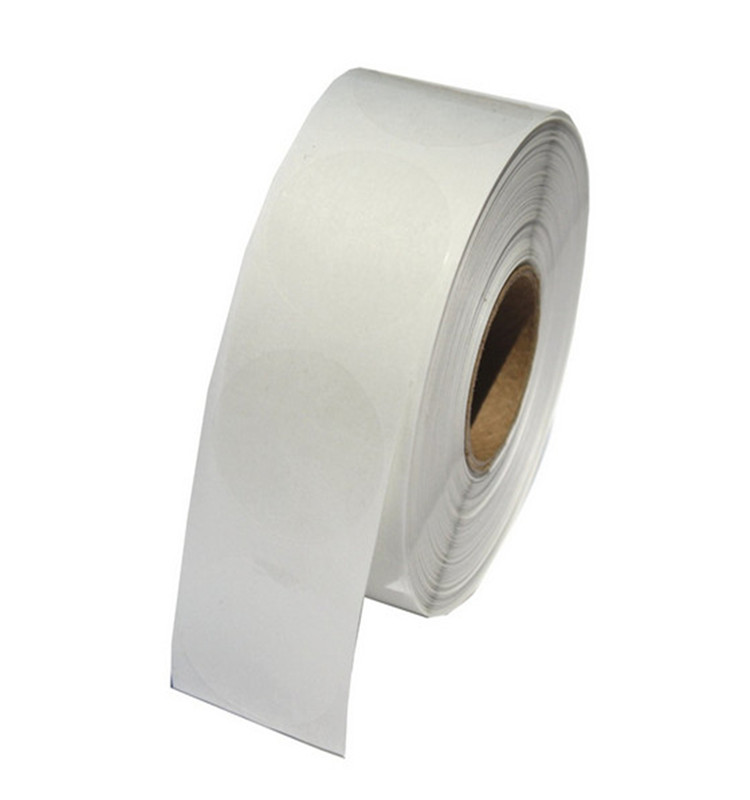 "Hybsk Clear Retail Package Seals 1"" Round Circle Wafer Stickers/Labels 1,000 Per Roll (1 roll)"