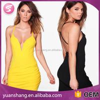 Trendy Woman Summer Neck Wrap Bodycon Skirt Dress