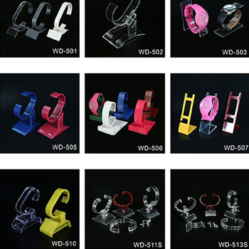 2017 hot sale custom logo watch display for smart watch popular mobile watch phones display stand from Shenzhen