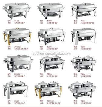 Guangzhou wholesale economic alcohol rectangle buffet stove cheap chafing dish for indian market