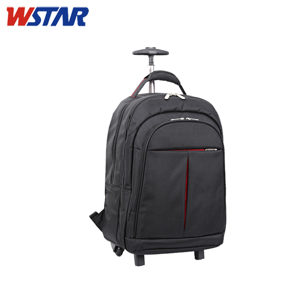 Black Travel Trolley Bag School,Rolling Backpack,Trolley ...