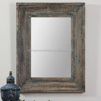 Distressed Wood Mirror Frame Antique Wood Frames Wall Mirrors Buy Distressed Wall Mirrors Oak Framed Wall Mirrors Carved Wood Reproduction Mirrors