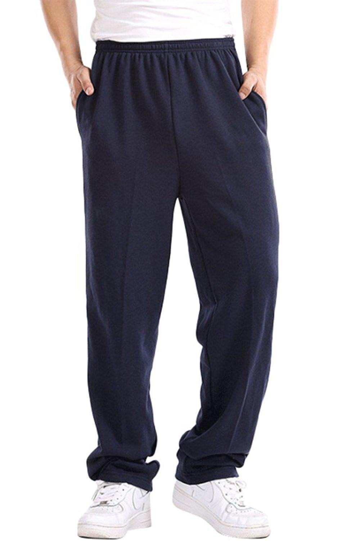 BucaDala Mens Fleece Jogger Sweatpants Thickening Baggy Slacks Trousers