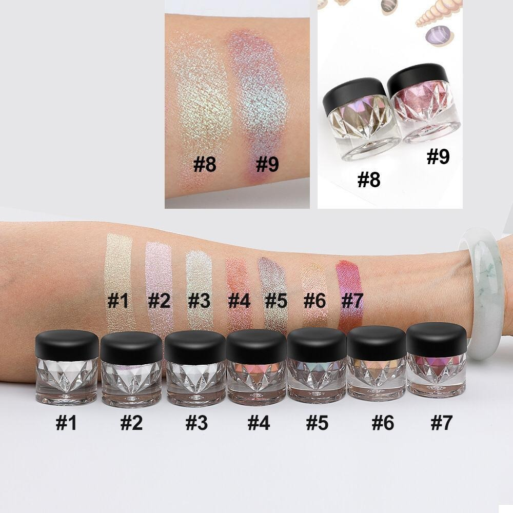 No Brand Wholesale 7 Colors Cosmetics Makeup Eye Shadow Diamond Matte Shimmer Glitter Private Label Eyeshadow