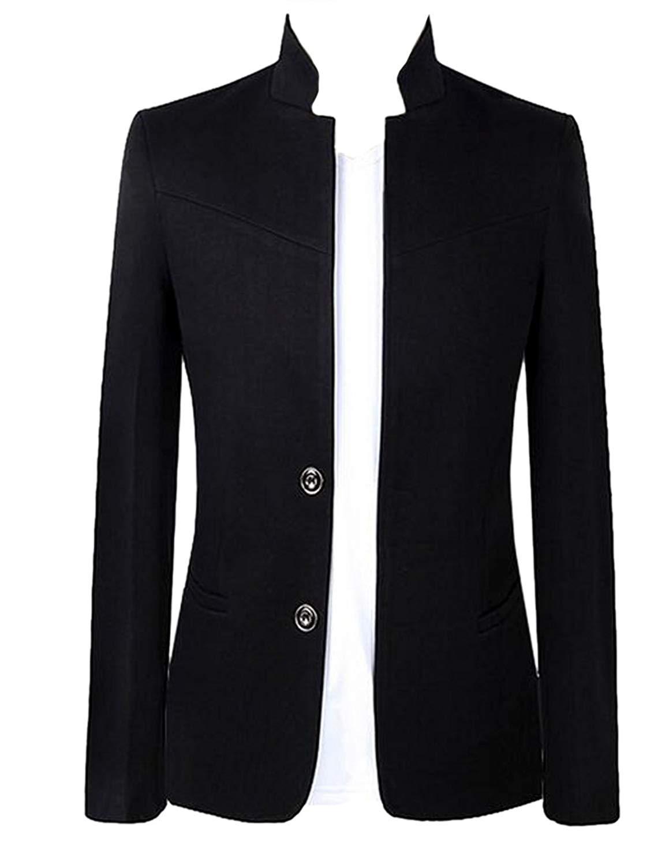 1332ce5131f Get Quotations · ARTFFEL Men Casual Business 2 Button Tuxedo Jacket Slim  Fit Blazer Jacket Coat