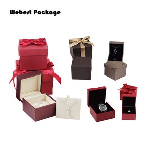 Webest 10years Professional Custom Necklace Box Different Material Gift Packaging Box Luxury Color Jewelry Ring Box With Logo