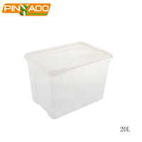 Custom Wholesale Eco-Friendly OEM Office Home Clear PP Plastic Waterproof Storage Box 20l