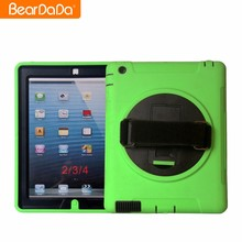 Factory direct supply for ipad 2 3 4 rotating case yellow