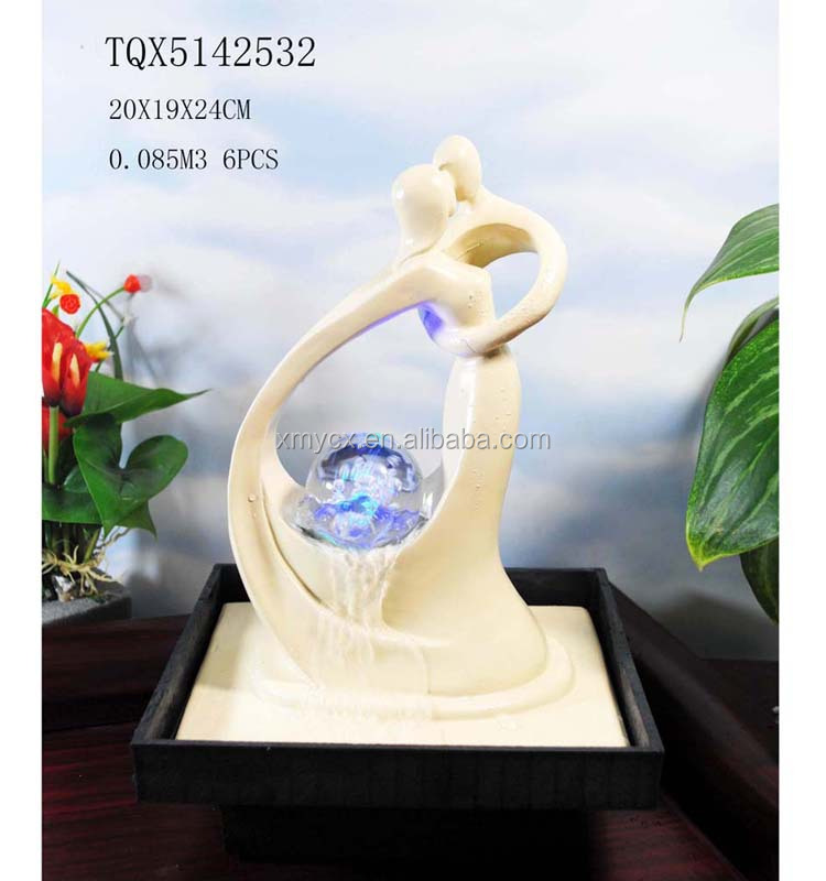 Wedding Favors White Dancing Couple Figurine Fountain for Party Decor