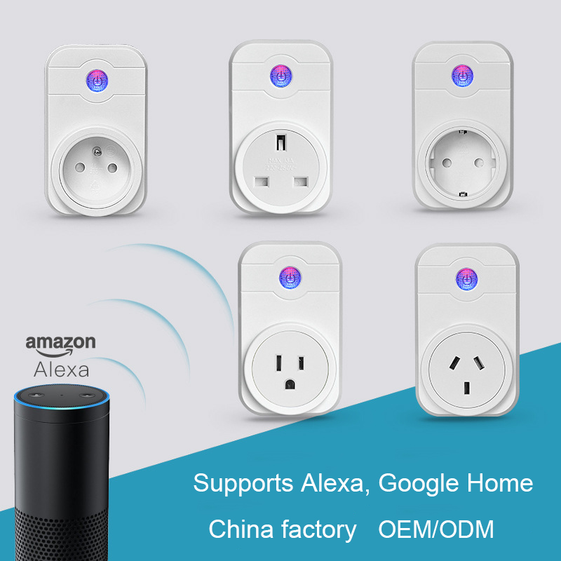 Amazon echo Google Home voice control smart socket wifi <strong>plug</strong> alexa EU US UK <strong>Plugs</strong>