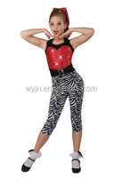 2016 Red sequin swirl catsuit plus zebra unitard