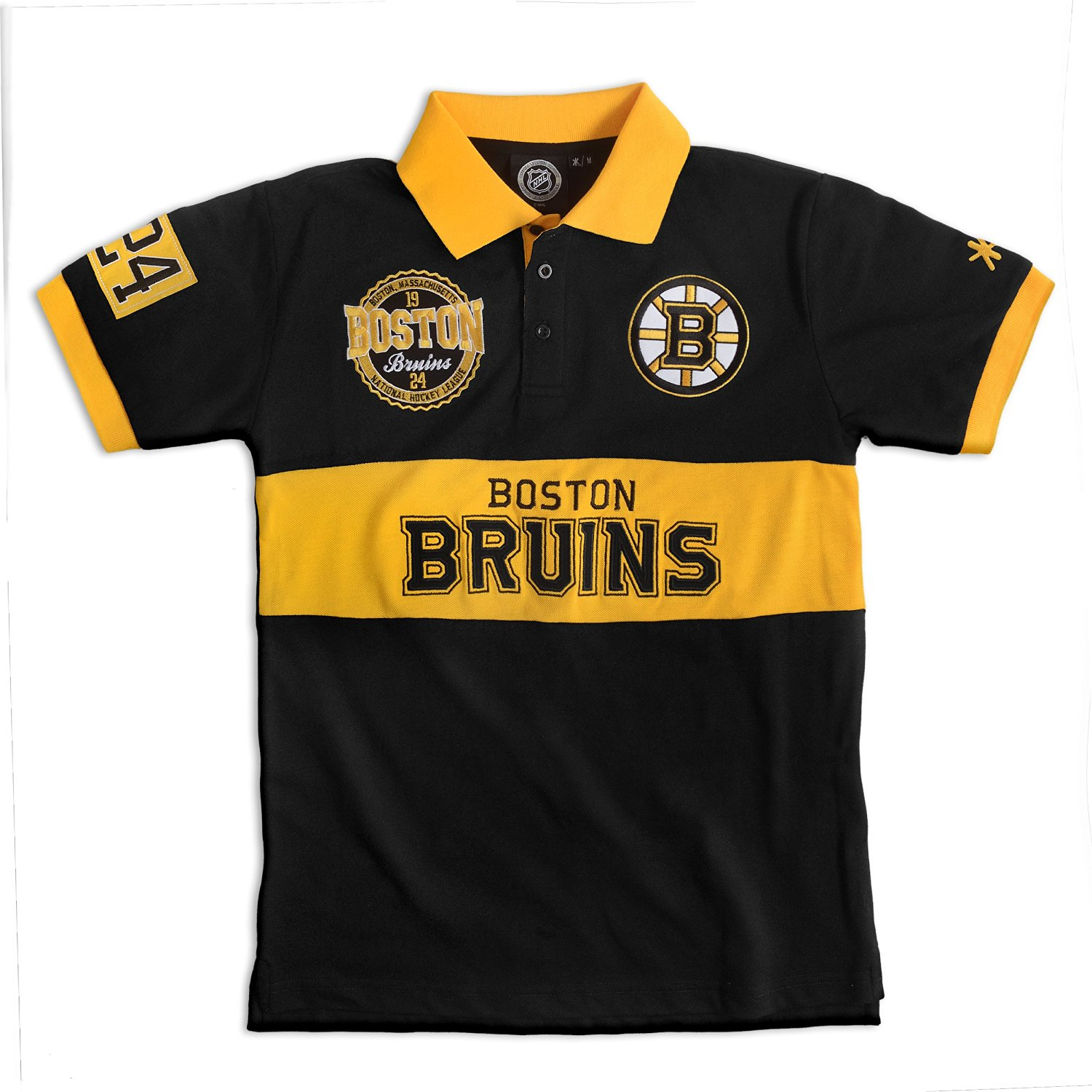 1850f23b1 Buy Boston Bruins NHL Wordmark Short Sleeve Rugby Polo in Cheap ...