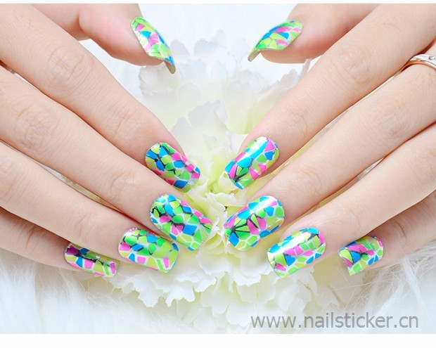 Dongguan wholesale colorful metallic nail art wrap foil sticker nail 14 day nail polish strips factory