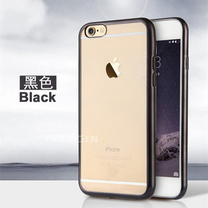 Hot seller electroplate side tpu back cover for iphone 6s plus rose gold case,clear ultrathin plating tpu case for iphone 6 plus