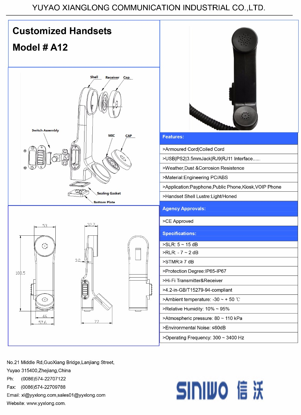 H 250 Handset Wiring Diagram Free Download Home Telephone Guide Vandal Resistant Wholesale Military U For