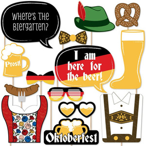 20 pcs I am here for the beer party games bunny head mask cardboard crown German Beer Festival German Photo Booth Props Kit