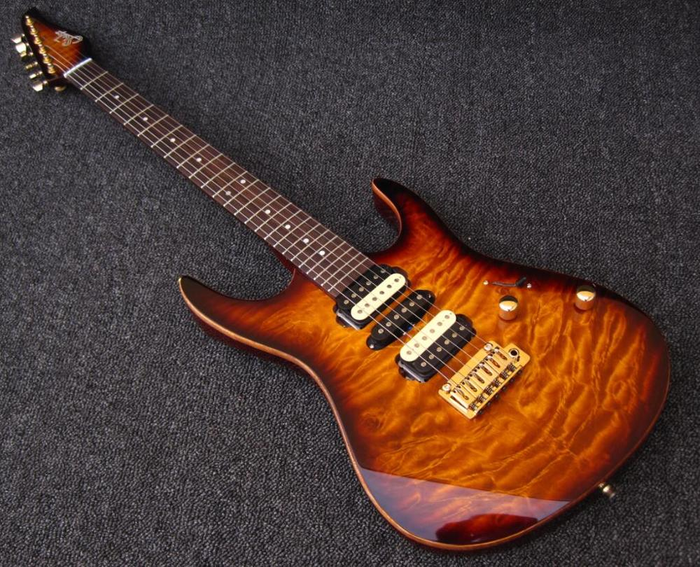 2018 Nova Fábrica Guitarra trastes 24 Assassino quilted maple top guitarra elétrica de Luxo