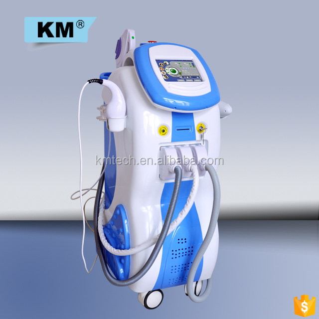 Multifunctional ipl laser cavitation RF 4 in 1 multifunction beauty machine / elight cavitation RF nd yag laser