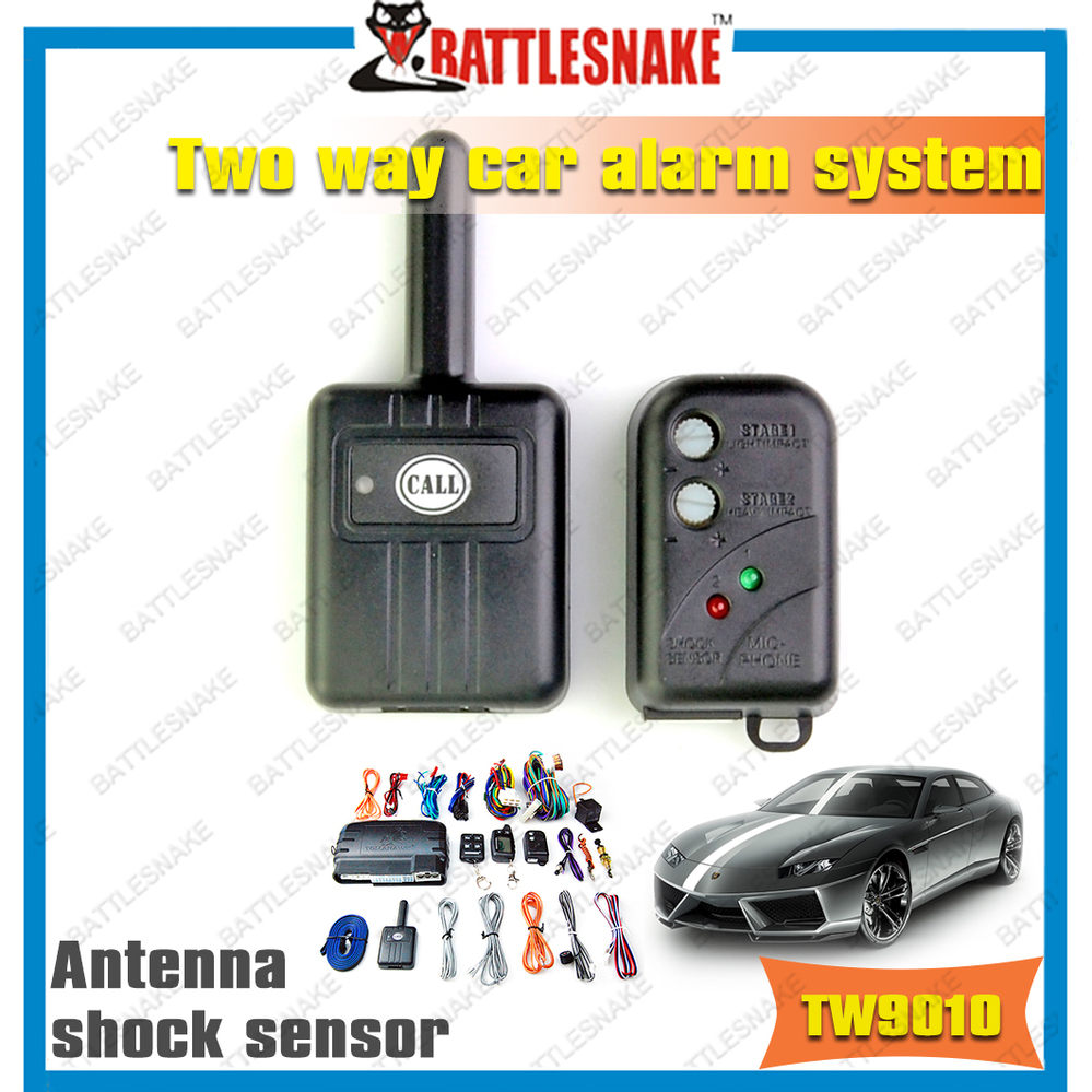 free shipping tomahawk tw9010 two way car alarm system origina shock sensor vibration sensor. Black Bedroom Furniture Sets. Home Design Ideas