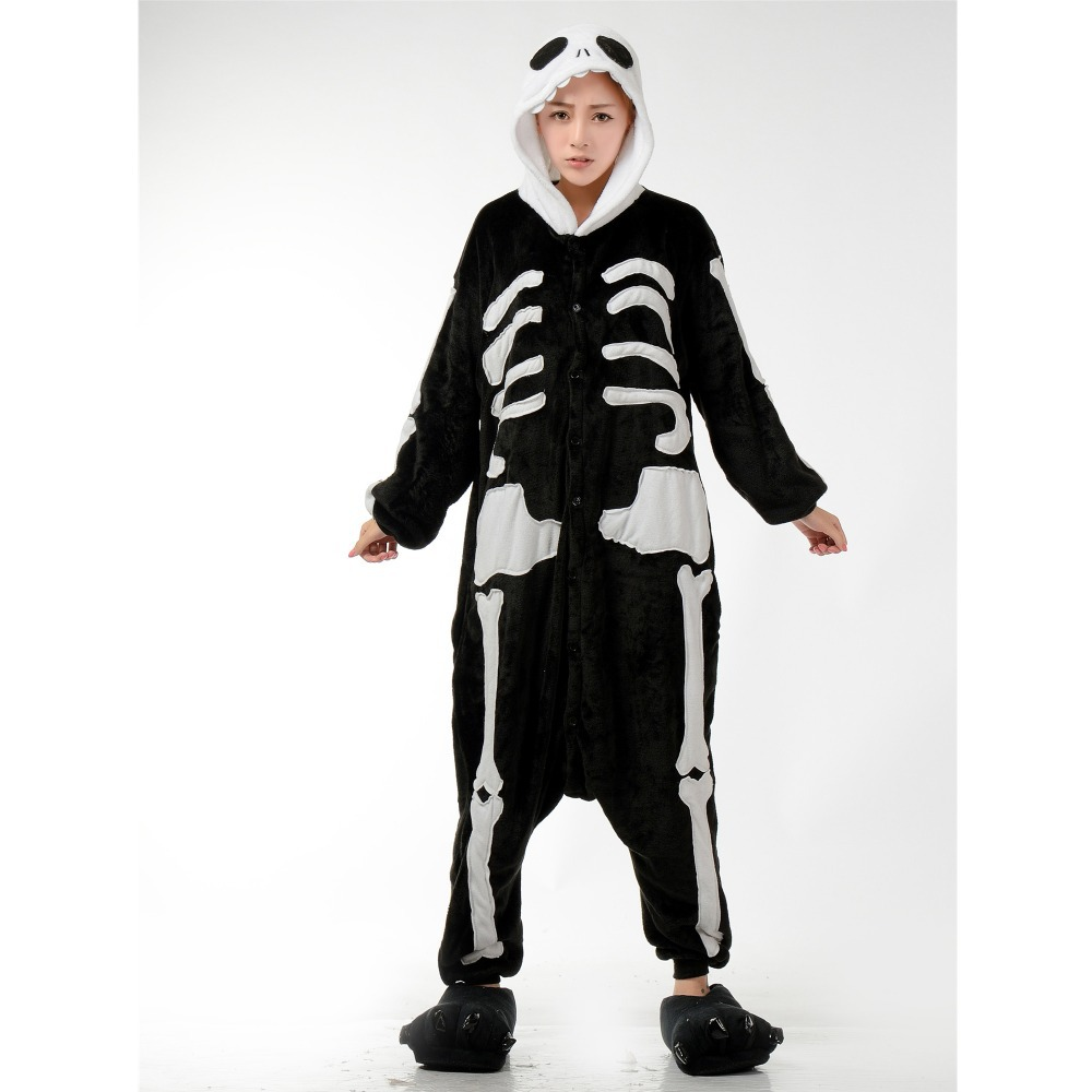 f0667c5135b Get Quotations · 2015 Hot-Selling Halloween Costume Unisex Adult Human  Skeleton Pajamas Jumpsuit Cosplay Party Dress Plus