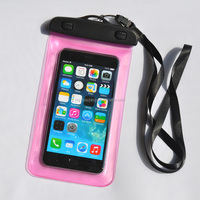 PVC Mobile Phones Waterproof Diving Bag/Portable Outdoor Water proof Pouch With Strap/Cellphone Dry Bag