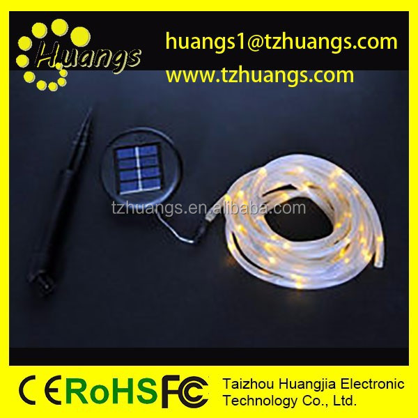 Hot Selling Solar Rope light ,Solar Tube Light For outdoor Decoration with FCC & CE & RoHS Certificate