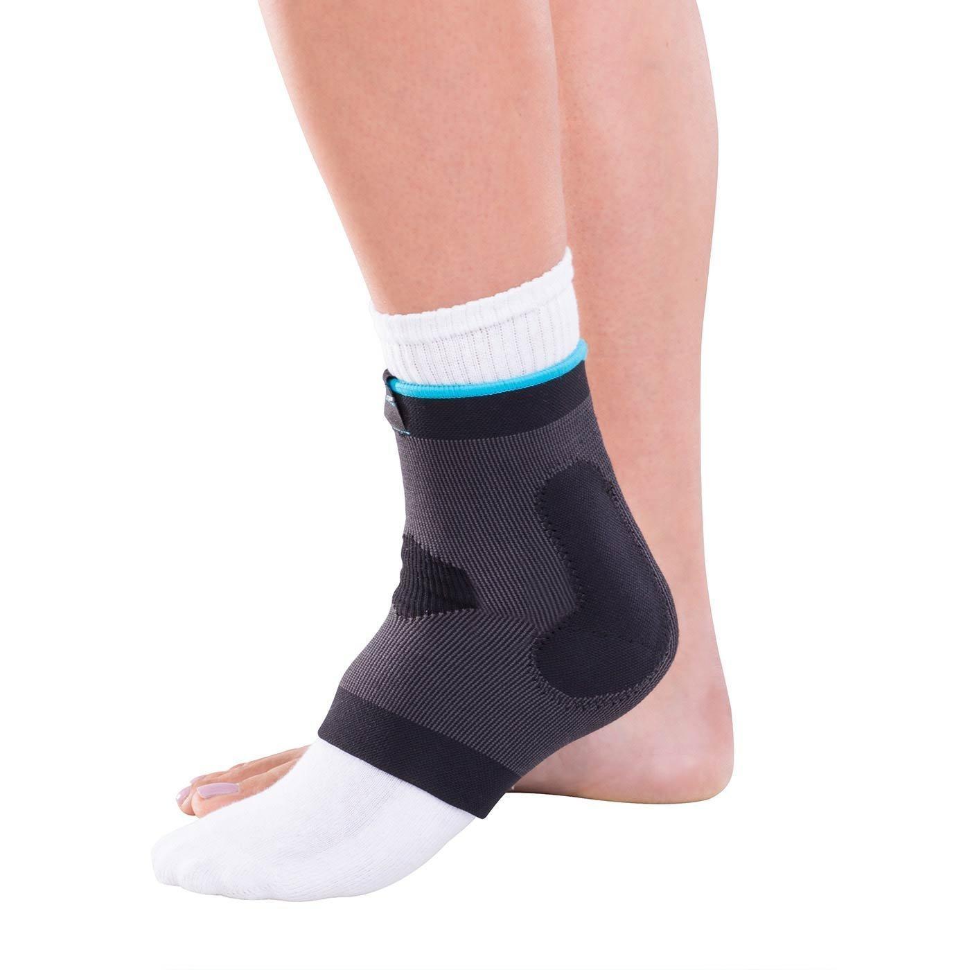 "DonJoy Advantage DA161AV02-BLK-S Deluxe Elastic Ankle for Sprains, Strains, Swelling, Black, Small fits 7.75"", 8.5"""