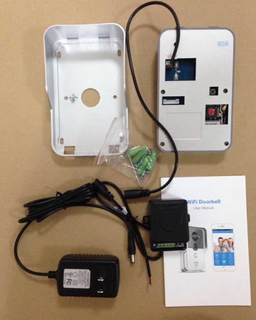 doorbell portier video ip r seau wifi ou c bl relais poe 12v interphone vid o id de produit. Black Bedroom Furniture Sets. Home Design Ideas