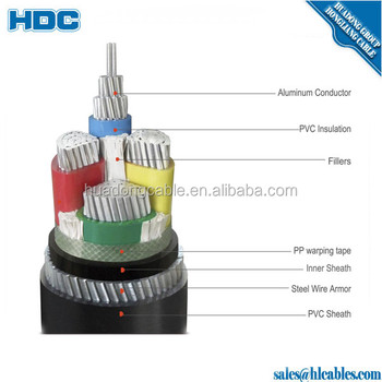 Power Cable Yjv22 4*185mm2 Yjlv 4*95mm2 Xlpe Insulation Cable ...