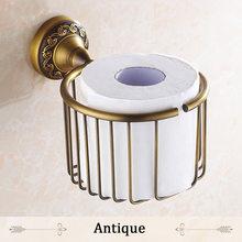 Держатель для бумаги, античная латунная настенная полка, рулон туалетной бумаги, тканевая корзина, хранение шампуня, аксессуары для ванной, ...(Китай)