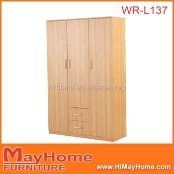 Fancy 3 Doors And 2 Drawers Bedroom Corner Wardrobe With Shelf And ...