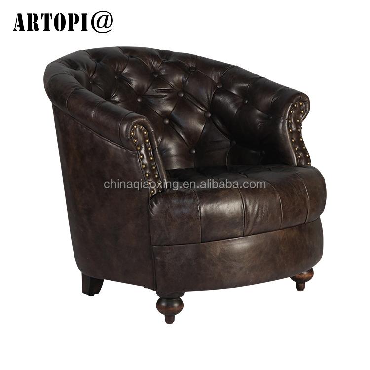 Vintage muebles de cuero retro ocio sofá antiguo sillones para cafe ...