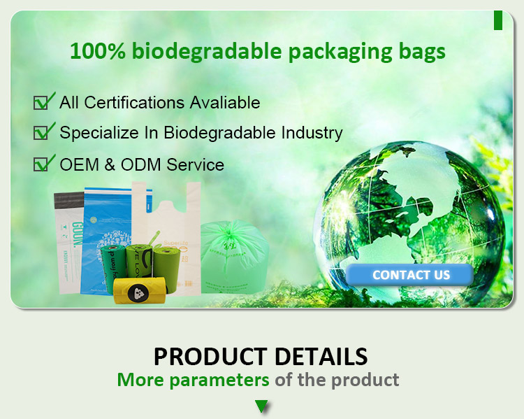 Cornstarch Mail Post Bag Custom Polythene PLA Shipping Compostable Poly Biodegradable Postage Bags For Clothing